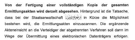 Einscannen demnächst Fortschritt in Bayern