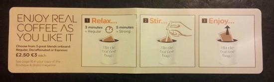 Kaffeebeutel 550x165 Aktive Sterbehilfe bei easyJet