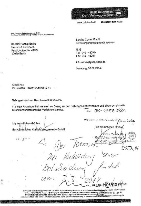 Bankkorrespondenz 550x800 Korrespondenz mit einer gepflegten Bank