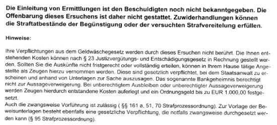 VerdeckteErmittlungen02 550x249 Bankgeheimnis: Offenbarung verboten