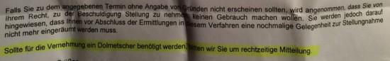 Dolmetscher 550x86 Großes Latinum für Polizeibeamte?
