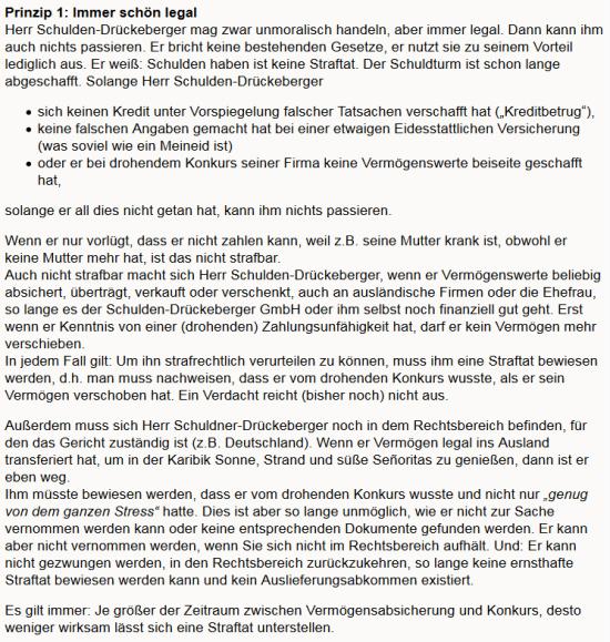 ImmerSchönLegal 550x579 Der Sonntagsgedanke: Vorschuß muß!