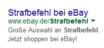 ebay-Strafbefehl
