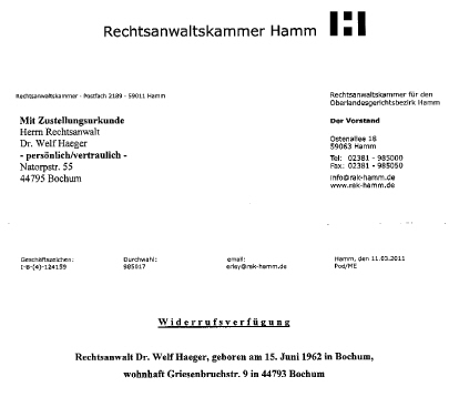 Dummheit Willkür Größenwahn Rechtsanwälte Kanzlei Hoenig Info