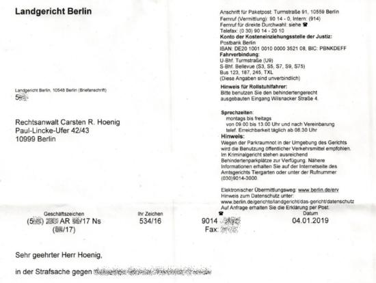 Offener Brief An Eine Richterin In Eigener Sache Kanzlei Hoenig